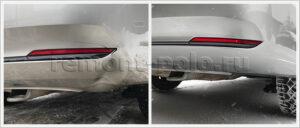 Ремонт и покраска заднего бампера VW Polo седан