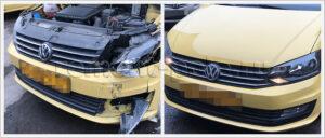 Кузовной ремонт такси VW Polo седан   remont-polo.ru