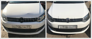 Ремонт VW Polo седан с устранением вмятины на капоте