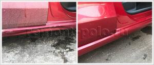 Ремонт и покраска порога Volkswagen Polo седан