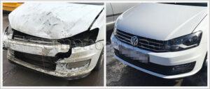 Восстановление кузова рестайлингового VW Polo седан