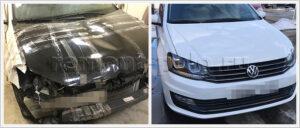 Восстановление VW Polo седан с применением оригинальных деталей