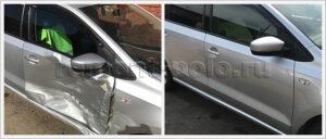 Ремонт VW Polo седан с заменой двери и крыла