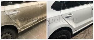 Замена двери VW Polo седан с покраской
