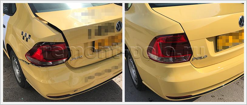 Ремонт задней части кузова автомобиля VW Polo седан