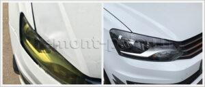 Ремонт и покраска капота Volkswagen Polo седан