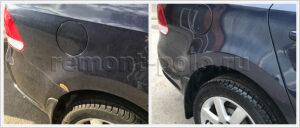 Восстановление лако-красочного покрытия крыла и порога VW Polo седан