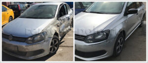Восстановление кузова Volkswagen Polo седан после аварии