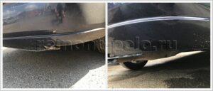 Замена бампера и ремонт порога VW Polo седан