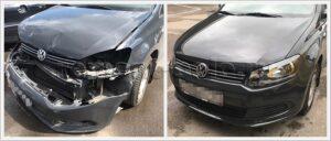 Ремонт кузова Volkswagen Polo седан - до и после