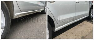 Ремонт и покраска правого порога Volkswagen Polo седан