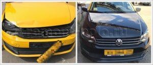 Восстановление передней части кузова VW Polo седан