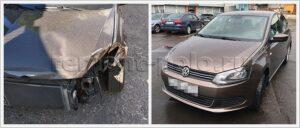 Ремонт кузова VW Polo седан с заменой и восстановлением деталей