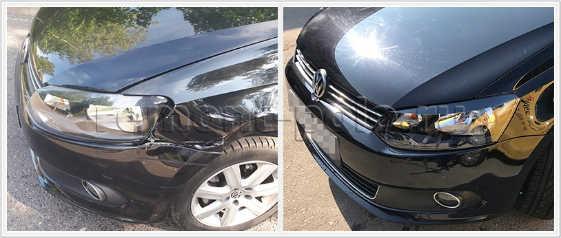 Ремонт кузова передней части Volkswagen Polo седан