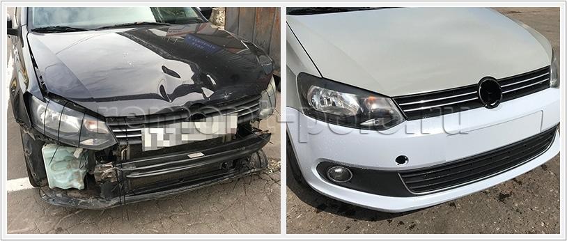 Ремонт кузова VW Polo седан без покраски