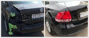 Ремонт задней части кузова Volkswagen Polo седан