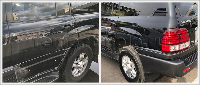 Кузовной ремонт автомобиля Lexus LX470