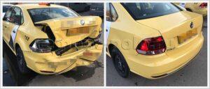 Восстановление задней части кузова Поло седан