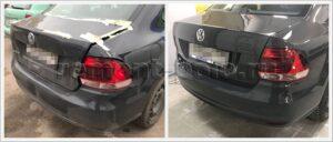 Замена бампера и крышки багажника Поло