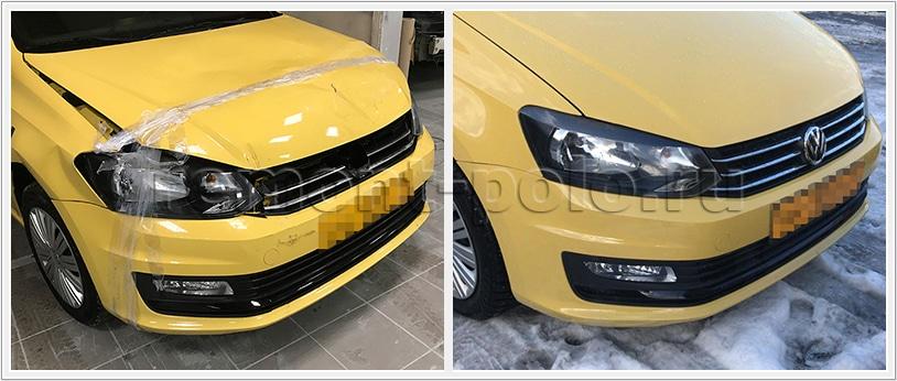 Ремонт VW Polo с заменой и восстановлением деталей