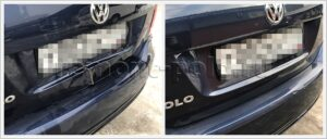 Ремонт кузова VW Polo седан с заменой крышки багажника