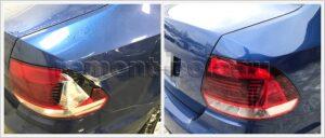 Ремонт заднего крыла Volkswagen Polo седан