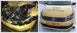 Восстановление VW Polo седан после сильнейшего ДТП
