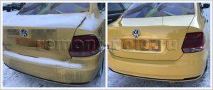 Ремонт задней части кузова такси VW Polo