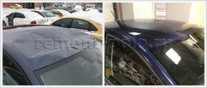 Замена крыши и ремонт других деталей кузова VW Polo