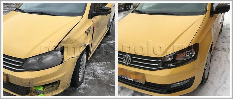 Бюджетный ремонт кузова VW Polo седан