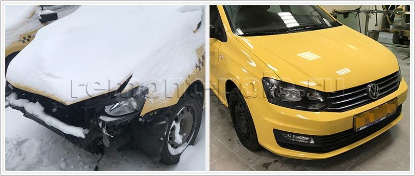 Восстановление передней части кузова Фольксваген Поло