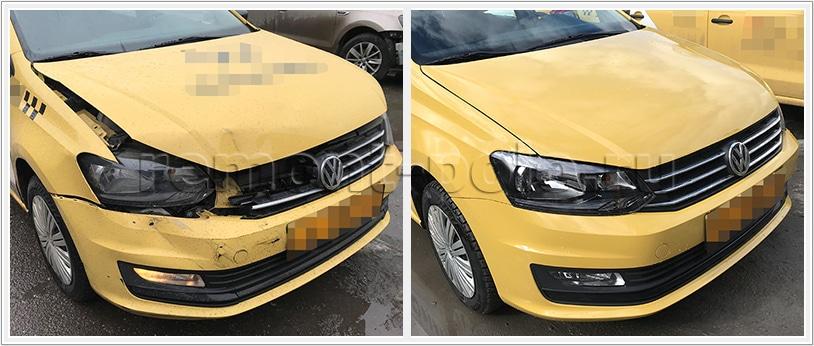 Бюджетный ремонт кузова Поло седан