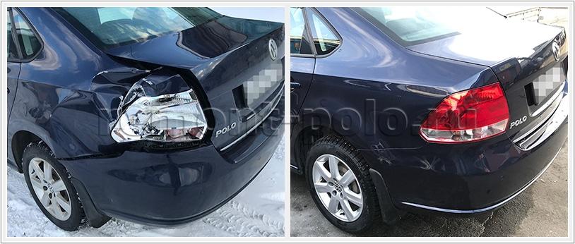 Замена боковины Volkswagen Polo седан