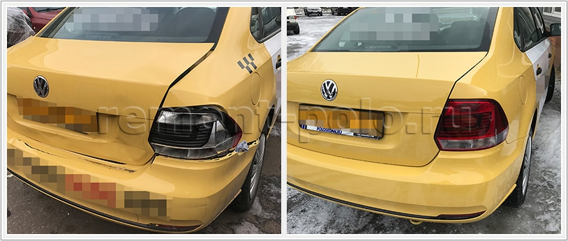 Кузовной ремонт такси VW Polo седан