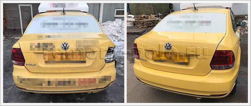 Ремонт VW Polo седан с повреждениями кузова