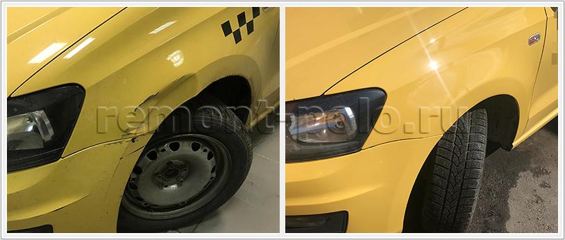 Ремонт бампера и крыльев VW Polo седан