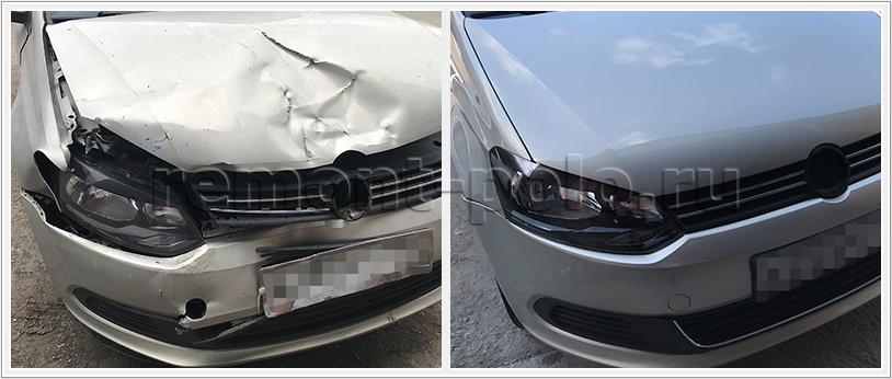 Ремонт кузова Поло после аварии