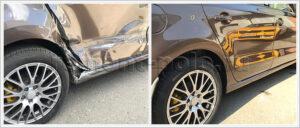 Ремонт кузова VW Polo с заменой боковины