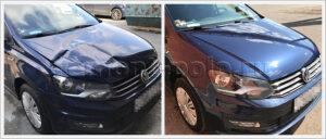 Замена капота и крыла VW Polo седан