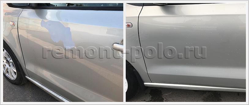 Покраска кузовных деталей VW Polo седан