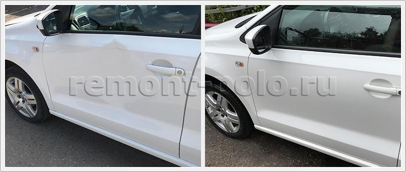 Ремонт передней двери VW Polo седан