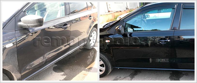 Ремонт и покраска деталей кузова седана Поло