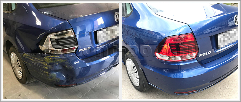 Ремонт кузова VW Polo с заменой деталей