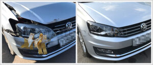 Кузовной ремонт Поло с заменой и покраской деталей