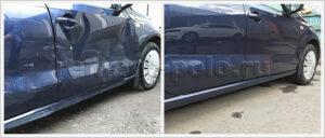Ремонт и замена деталей правой части кузова VW Polo седан