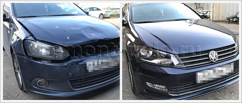 Обширные работы по ремонту кузова VW Polo седан