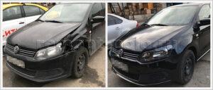 Замена крыла и бампера на VW Polo седан