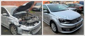 Основательный ремонт кузова VW Polo седан