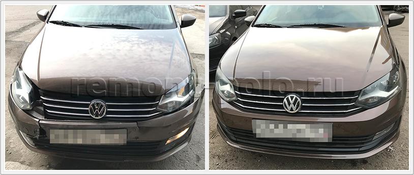 Ремонт VW Polo седан в кузовном сервисе