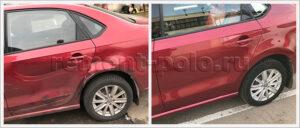 Замена двери и боковины на седане VW Polo